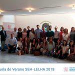 Alumnos y profesores de la Escuela de Verano SEH-LELHA 2018