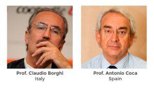 Profesor Claudio Borghi y el Profesor Antonio Coca